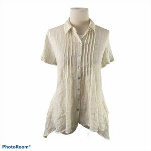 4/$30 🌿 JACLYN SMITH Beige Button Down Shirt